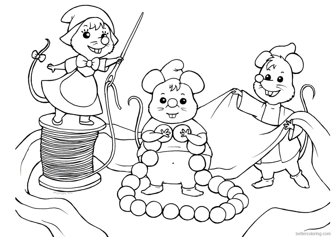 Baylee Jae Coloring Pages Cartoon Mouses printable for free