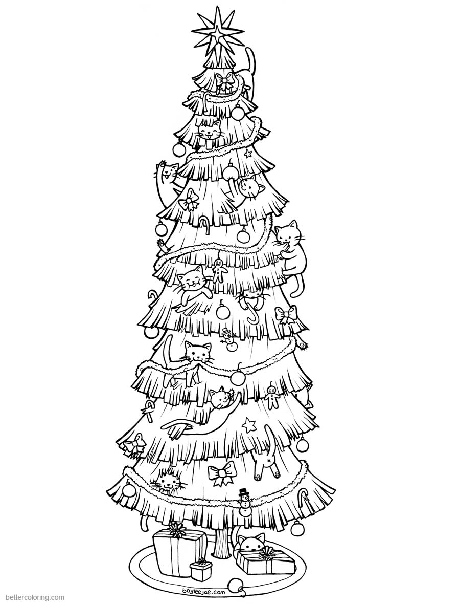 baylee jae coloring pages christmas tree printable for free - Christmas Tree Printable Coloring Pages