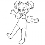 Baylee Jae Coloring Pages Cute Girl