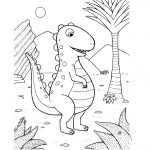 Baylee Jae Coloring Pages Dinosaur