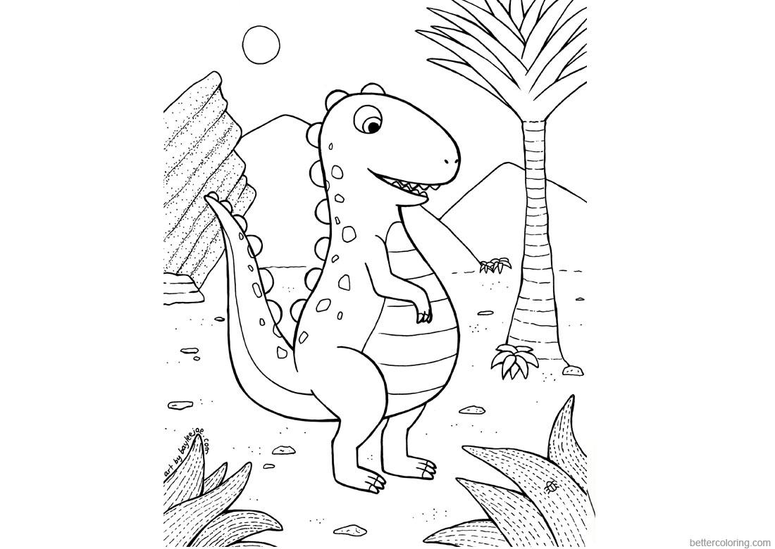 Baylee Jae Coloring Pages Dinosaur
