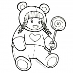 Baylee Jae Coloring Pages Lollipop
