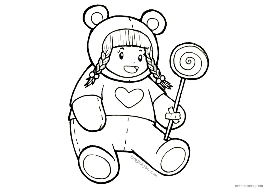 Baylee Jae Coloring Pages Lollipop - Free Printable Coloring Pages