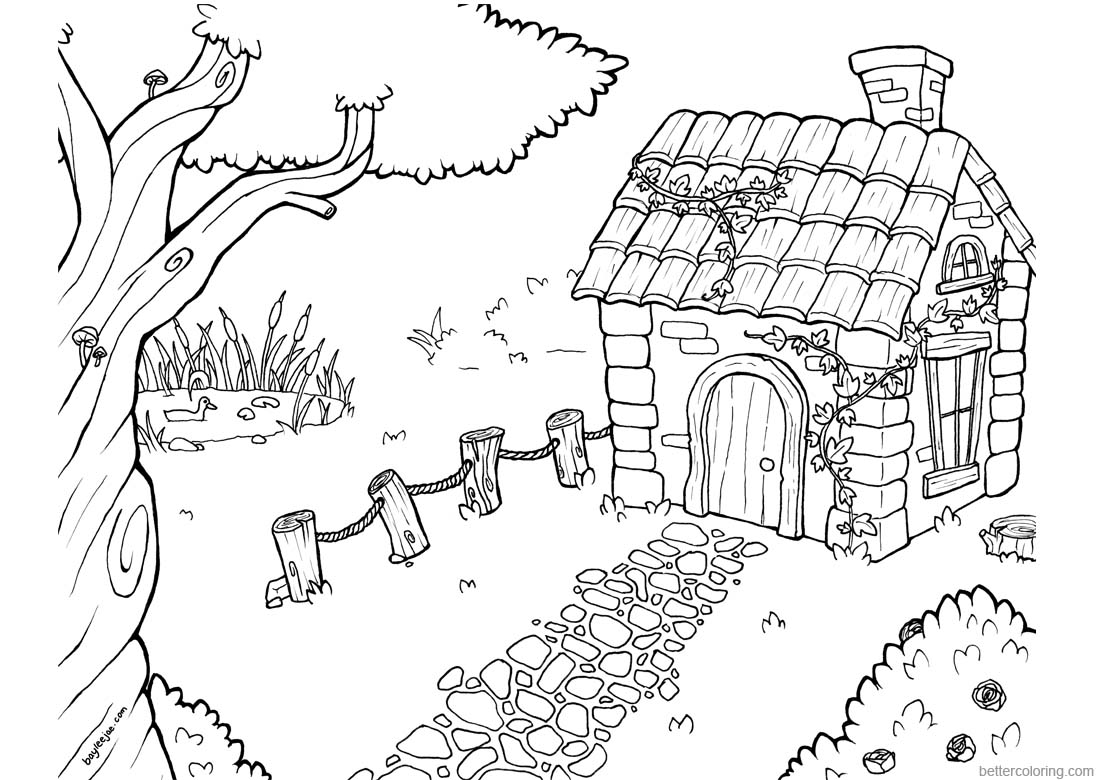 Baylee Jae Coloring Pages Small House printable for free