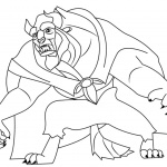 Beauty and The Beast Coloring Pages Line Art