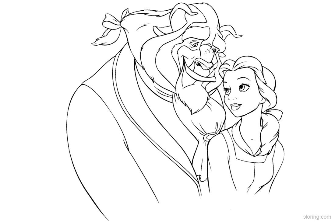 Beauty and The Beast Coloring Pages printable for free