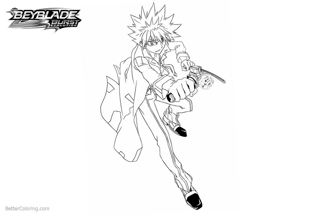 Free Beyblade Burst Coloring Pages Characters printable