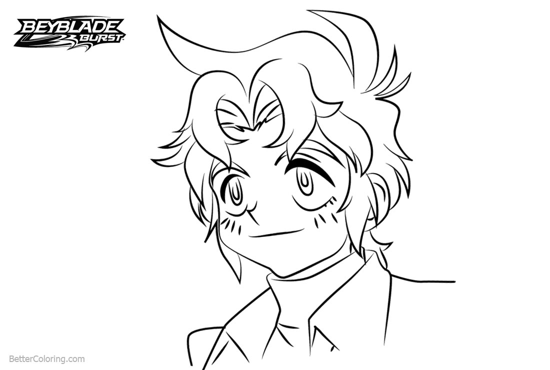 Free Beyblade Burst Coloring Pages Enrique printable
