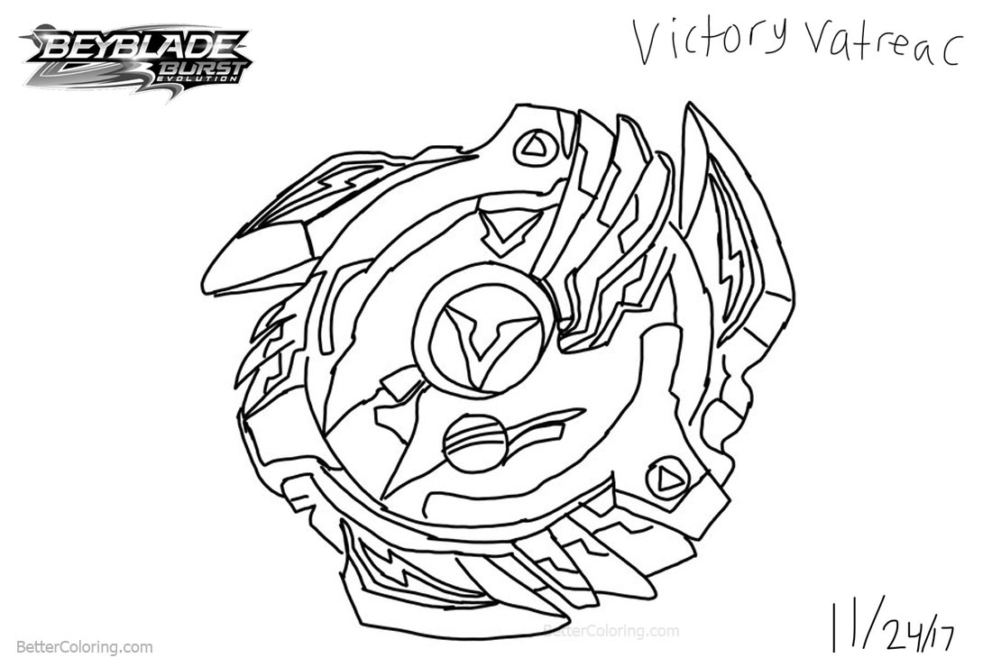 beyblade burst coloring pages fan art drawing by