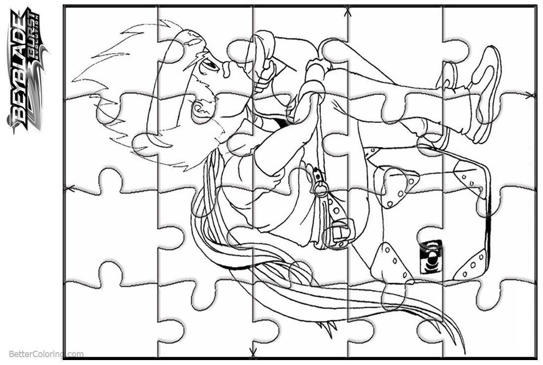 Beyblade Burst Coloring Pages Jigsaw Puzzle - Free Printable ...