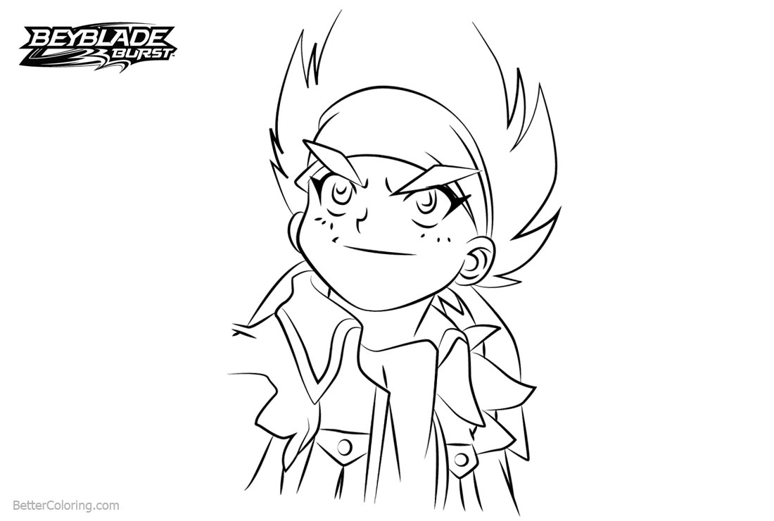 Free Beyblade Burst Coloring Pages Johnny McGregor printable