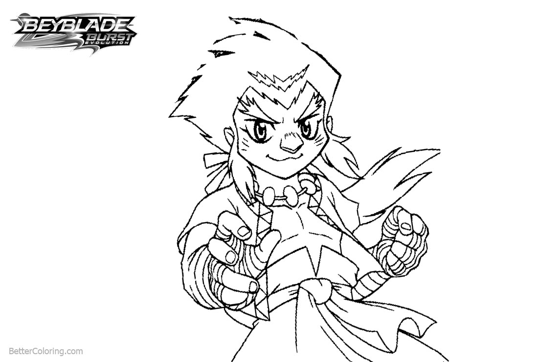 Free Beyblade Burst Coloring Pages Kevin printable