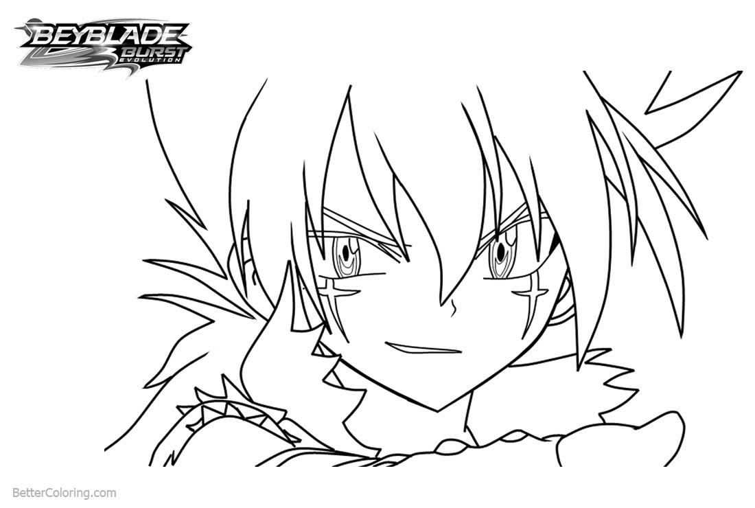 Beyblade Burst Coloring Pages Kyoya Free Printable Coloring Pages