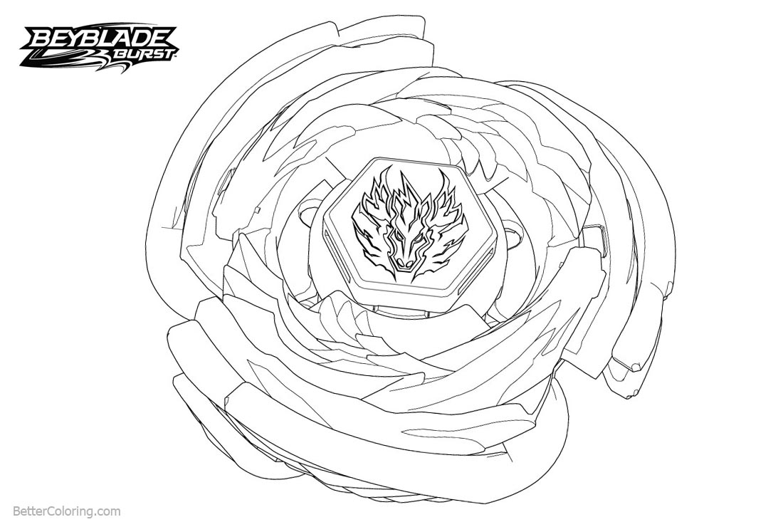 Beyblade Burst Coloring Pages Line Art - Free Printable ...