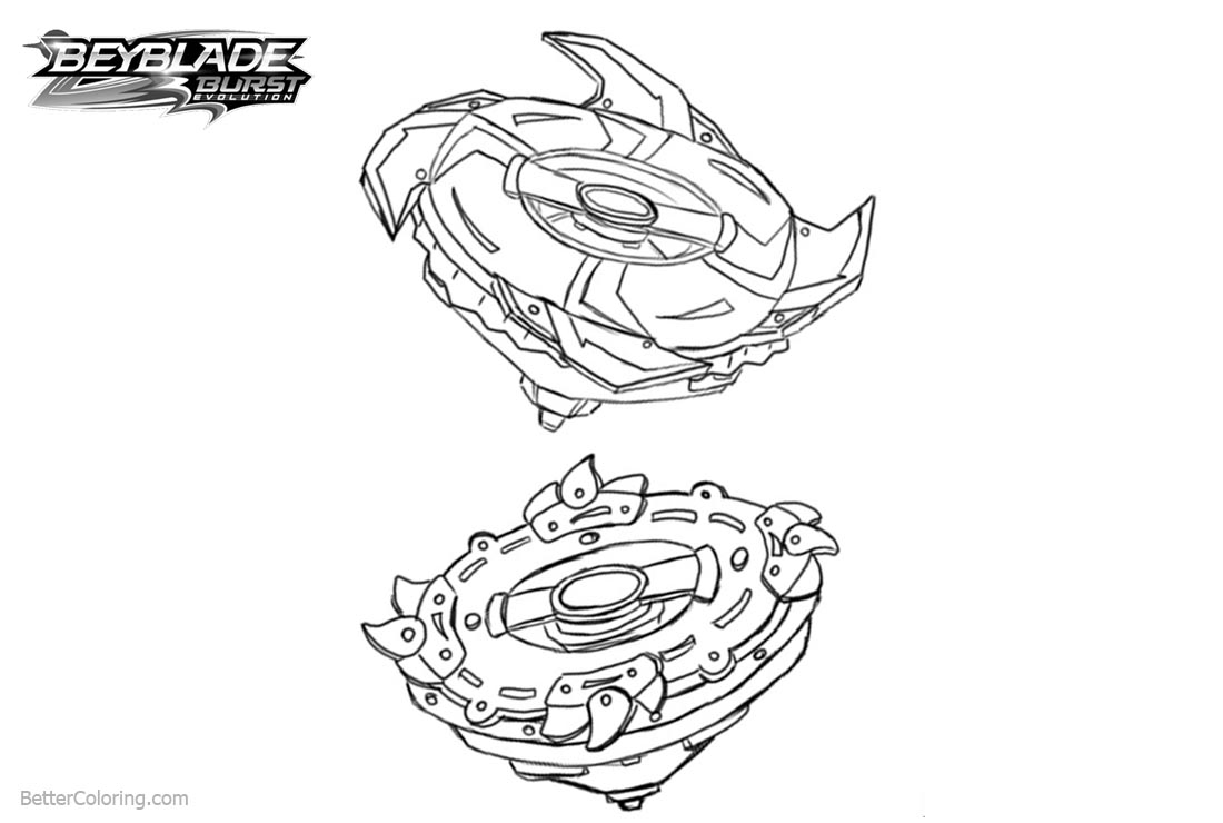 Free Beyblade Burst Coloring Pages Line Drawing printable