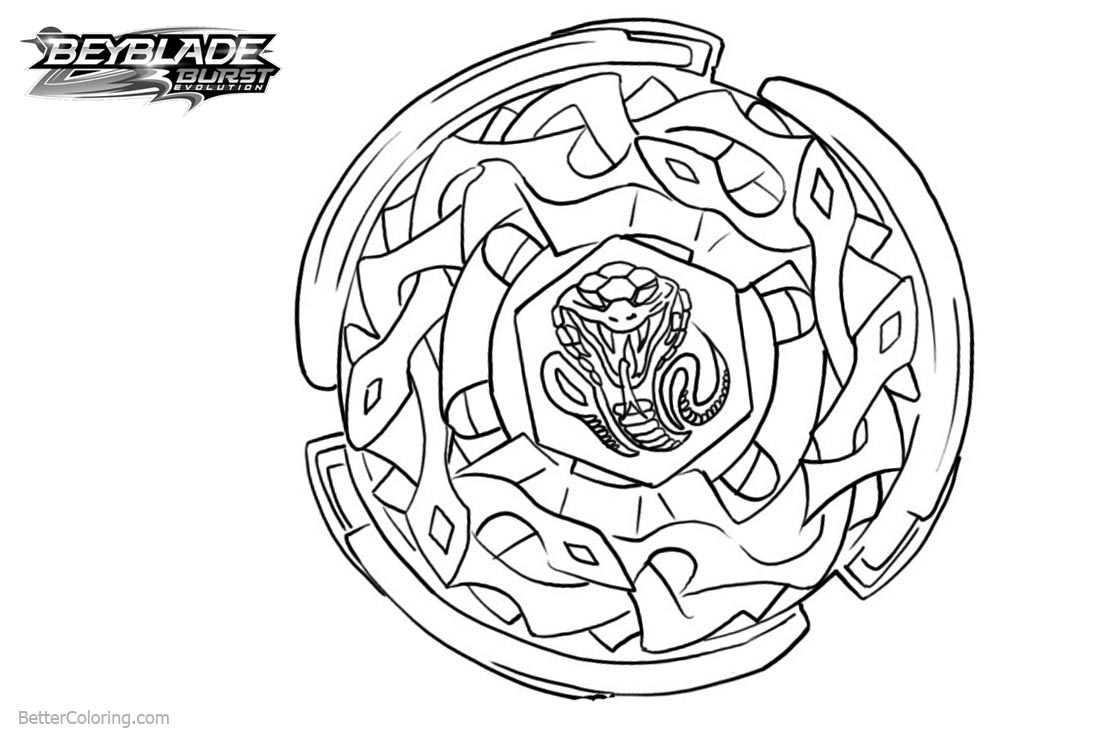 Free Beyblade Burst Coloring Pages Lineart printable