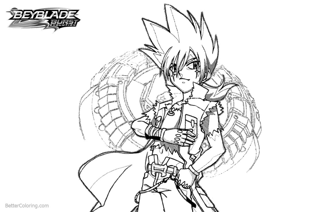 Free Beyblade Burst Coloring Pages Outline Drawing printable