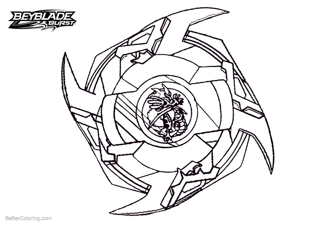 Beyblade burst coloring pages powerful beyblade free for Beyblade burst coloring pages