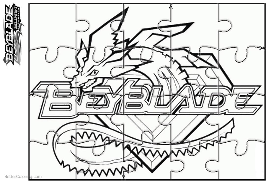 Beyblade Burst Coloring Pages Puzzle Activity - Free ...