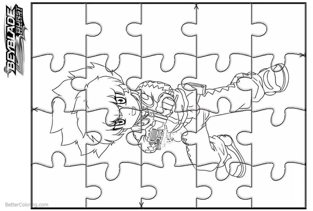 Beyblade Burst Coloring Pages Puzzle Cut Sheet - Free Printable ...