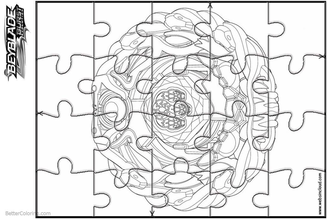 Beyblade Burst Coloring Pages Puzzle Template - Free Printable ...