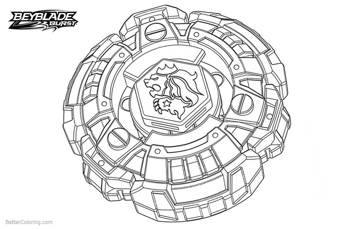 Beyblade burst coloring pages with lion free printable for Beyblade burst coloring pages