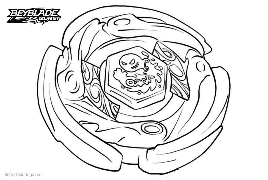 Free Beyblade Burst Coloring Pages with Waves printable