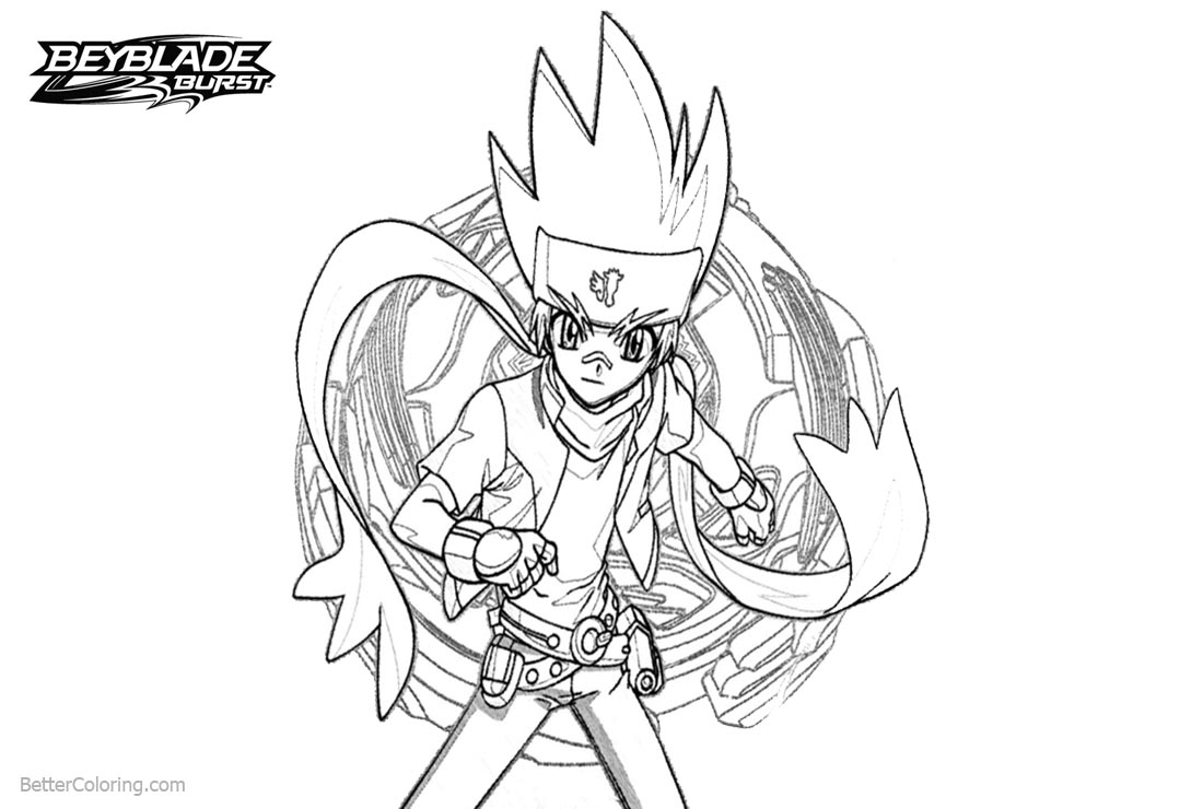 Free Beyblade Burst Evoluion Coloring Pages Ginka Hagane printable