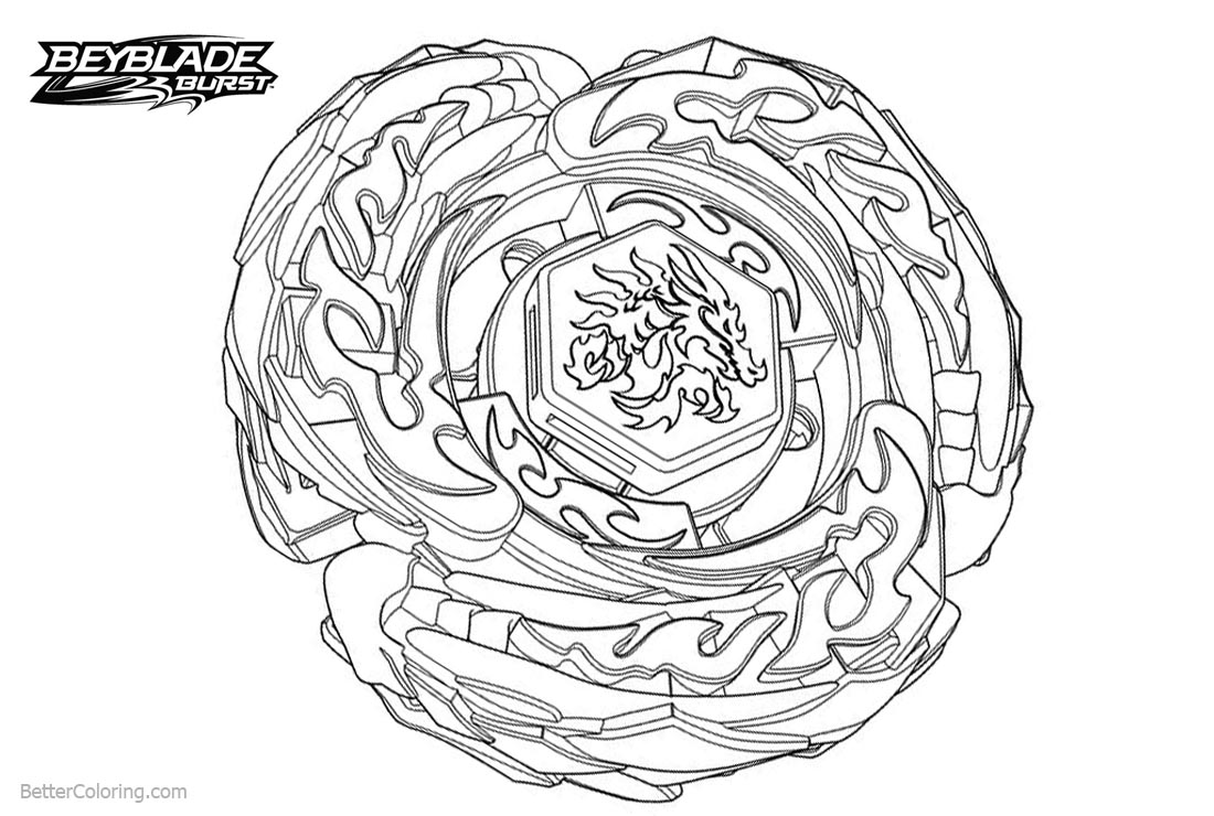 beyblade burst evolution coloring pages with free
