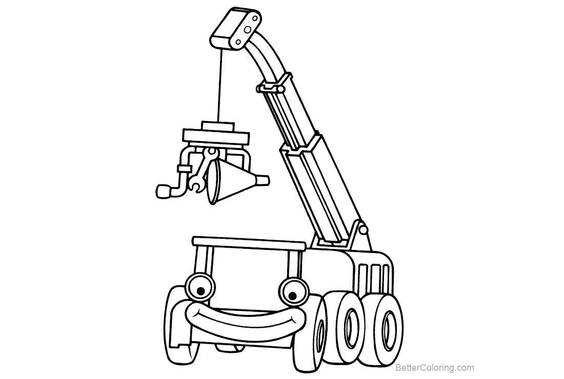 Free Bob The Builder Coloring Pages Clipart printable
