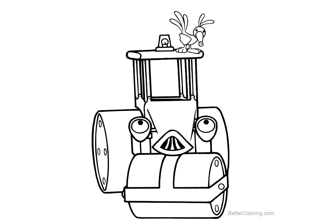 Free Bob The Builder Coloring Pages Line Drawing printable