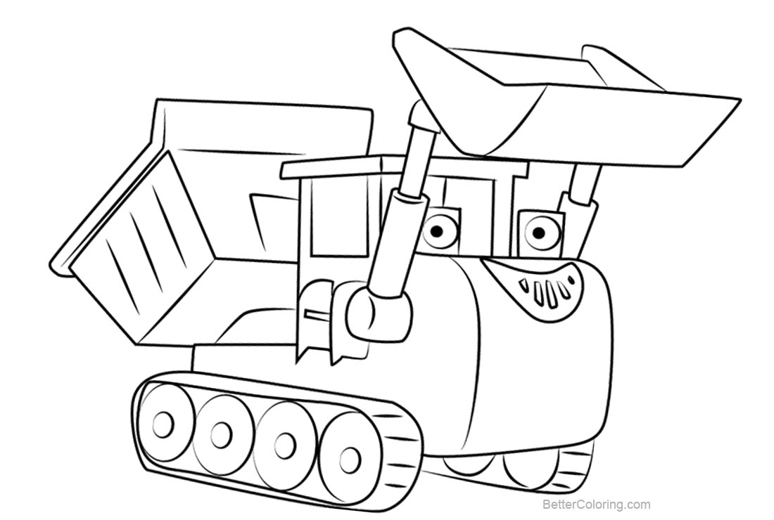 Free Bob The Builder Coloring Pages Muck printable