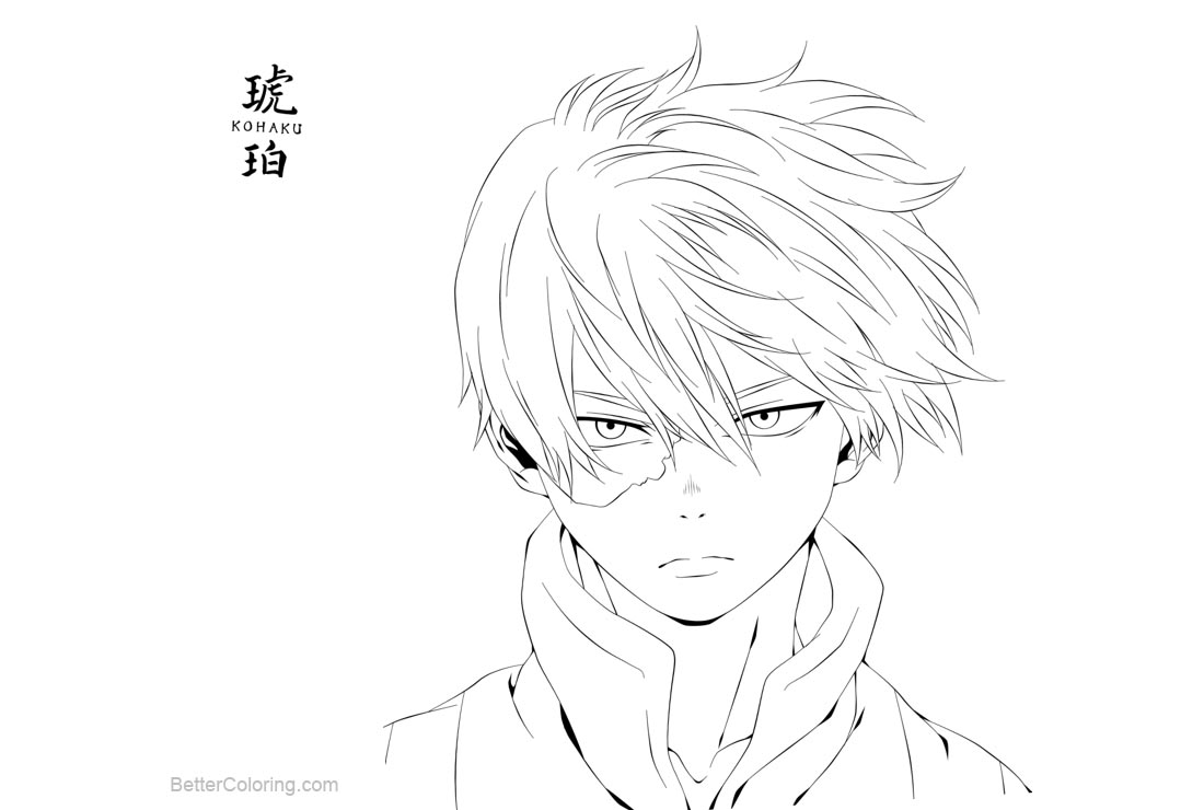 Boku No Hero Academia Shouto Todoroki Coloring Pages by