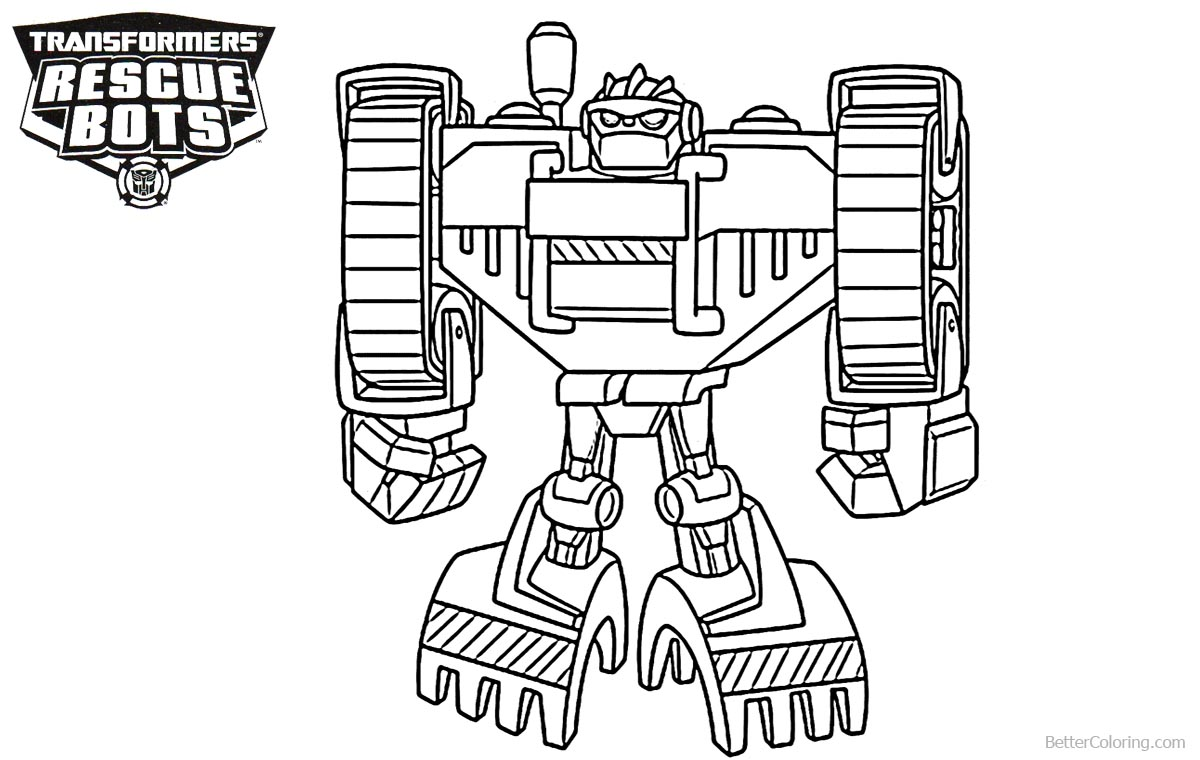 Boulder From Transformers Rescue Bots Coloring Pages