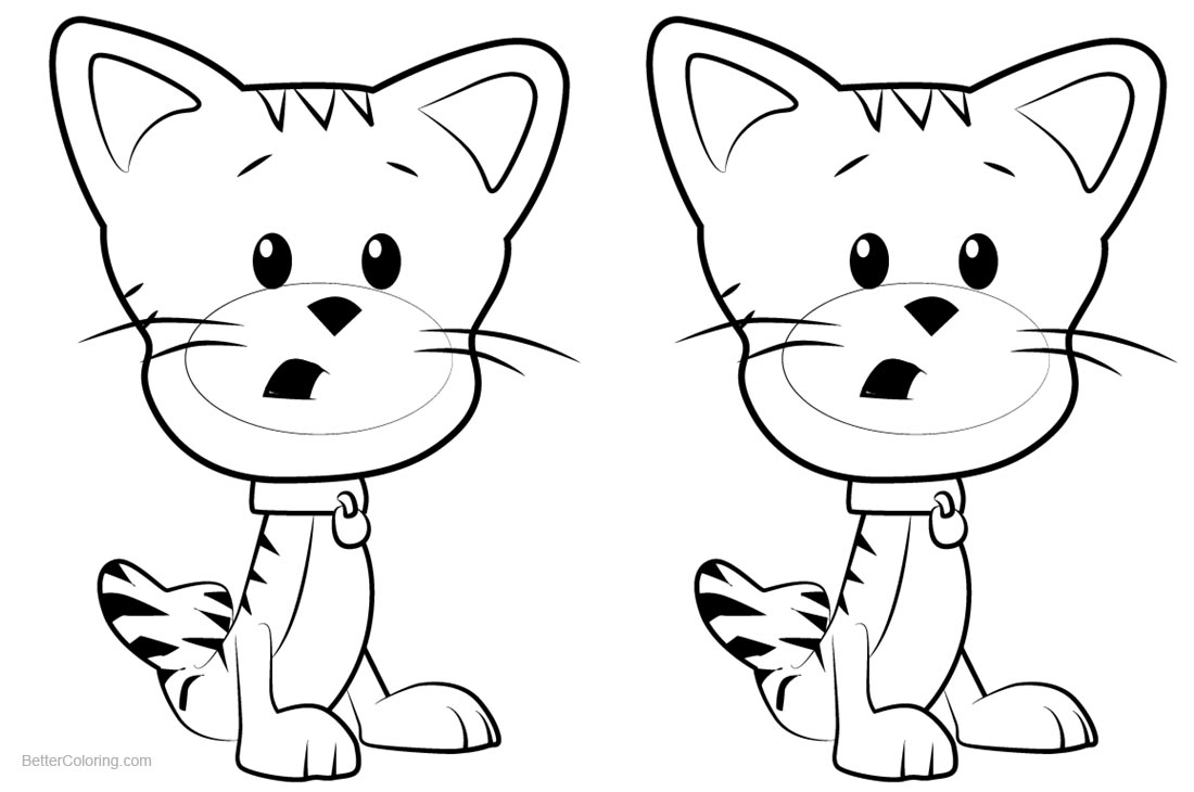 Bubble Guppies Coloring Pages Bubble Kitty printable for free