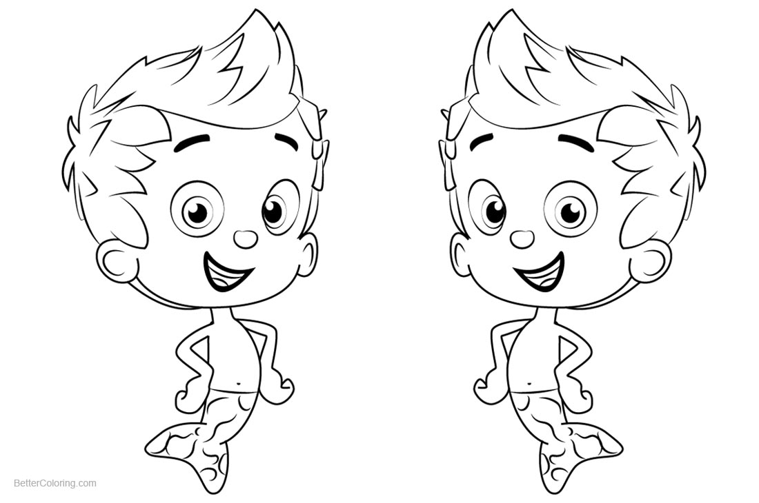 Bubble Guppies Coloring Pages Characters Gil printable for free