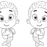 Bubble Guppies Coloring Pages Characters Goby