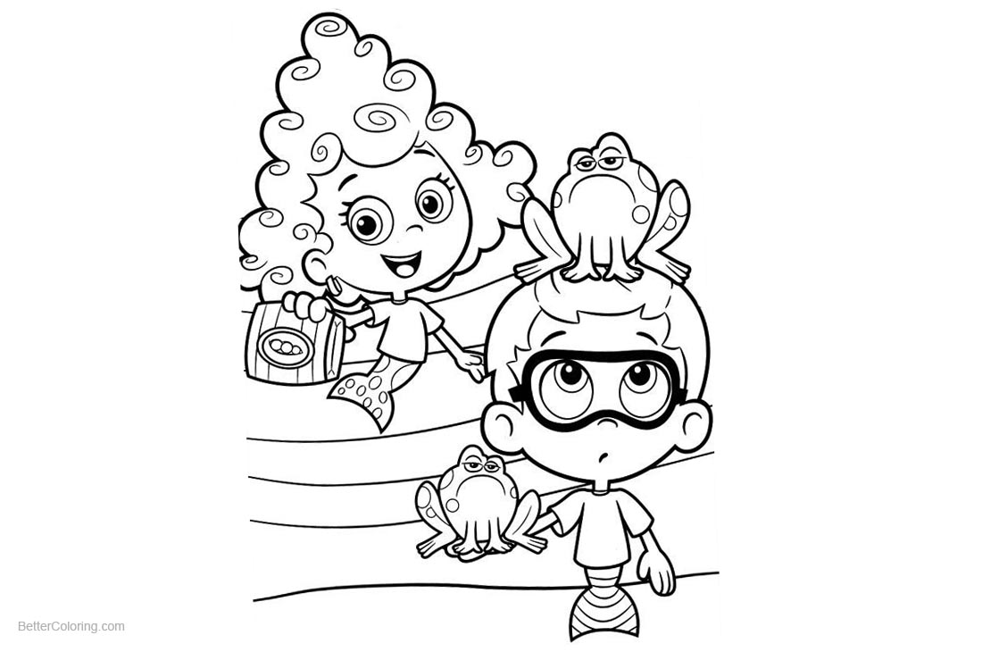 Bubble Guppies Coloring Pages Deema and Gil - Free Printable ...