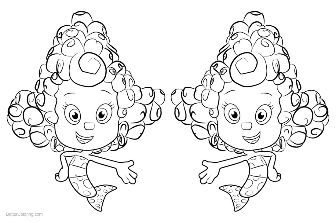 Bubble Guppies Coloring Pages Deema printable for free