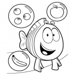Bubble Guppies Coloring Pages Fruits