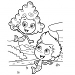 Bubble Guppies Coloring Pages Gil and Deema