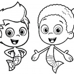 Bubble Guppies Coloring Pages Gil and Goby