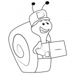 Bubble Guppies Coloring Pages Mail Carrier Snail