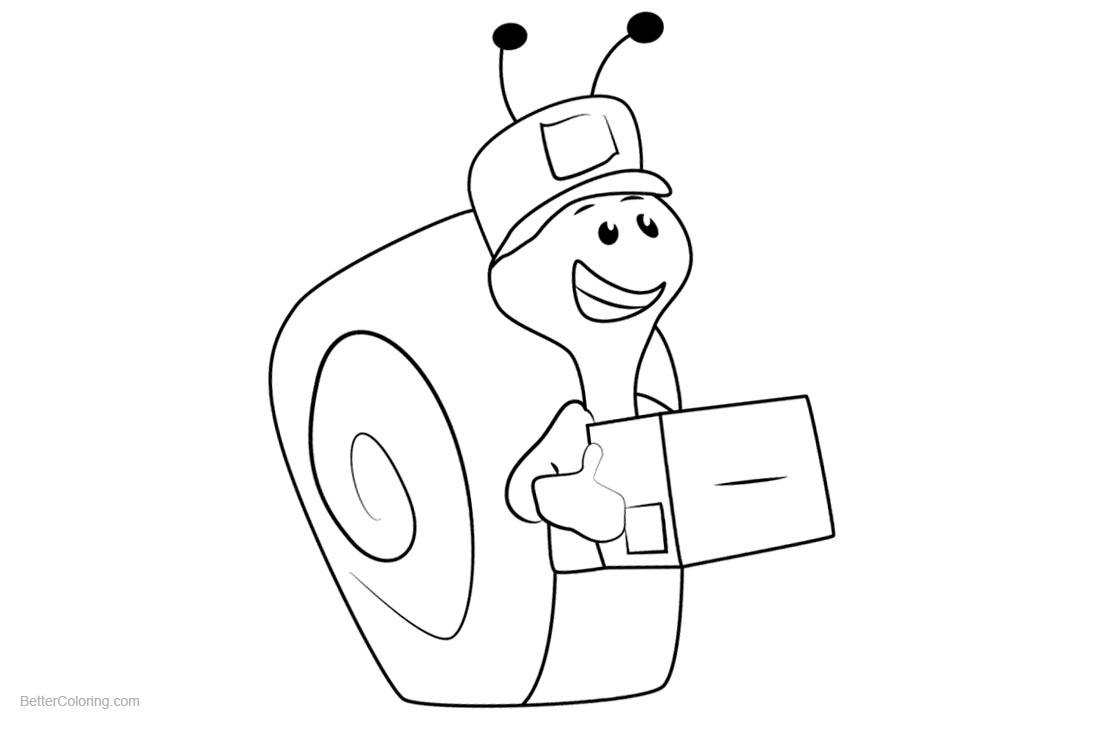 Bubble Guppies Coloring Pages Mail Carrier Snail printable for free