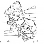 Bubble Guppies Coloring Pages Molly and Deema
