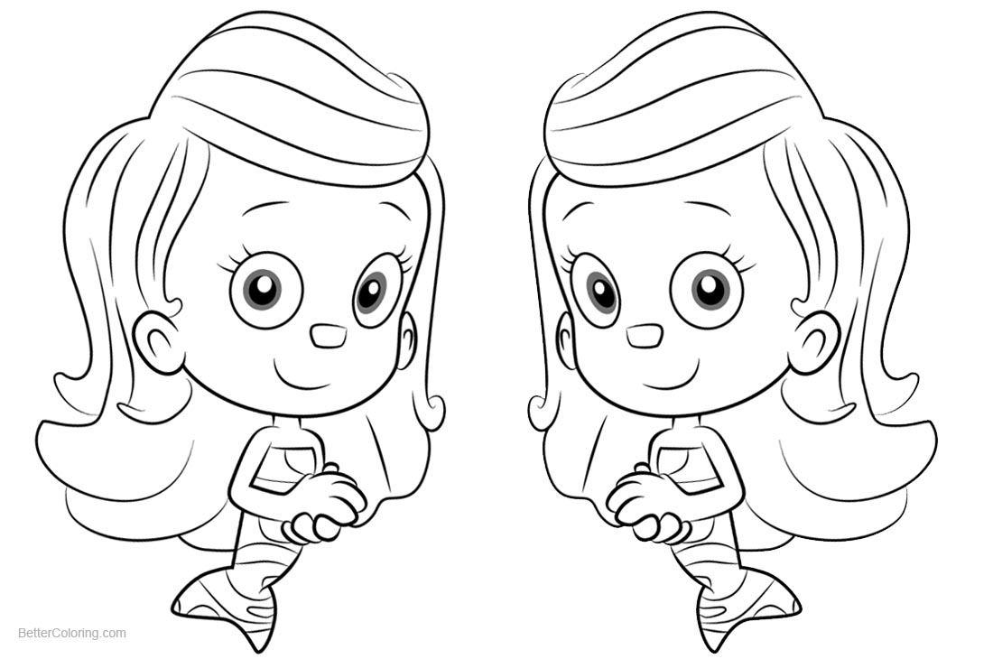 Bubble Guppies Coloring Pages Molly - Free Printable ...