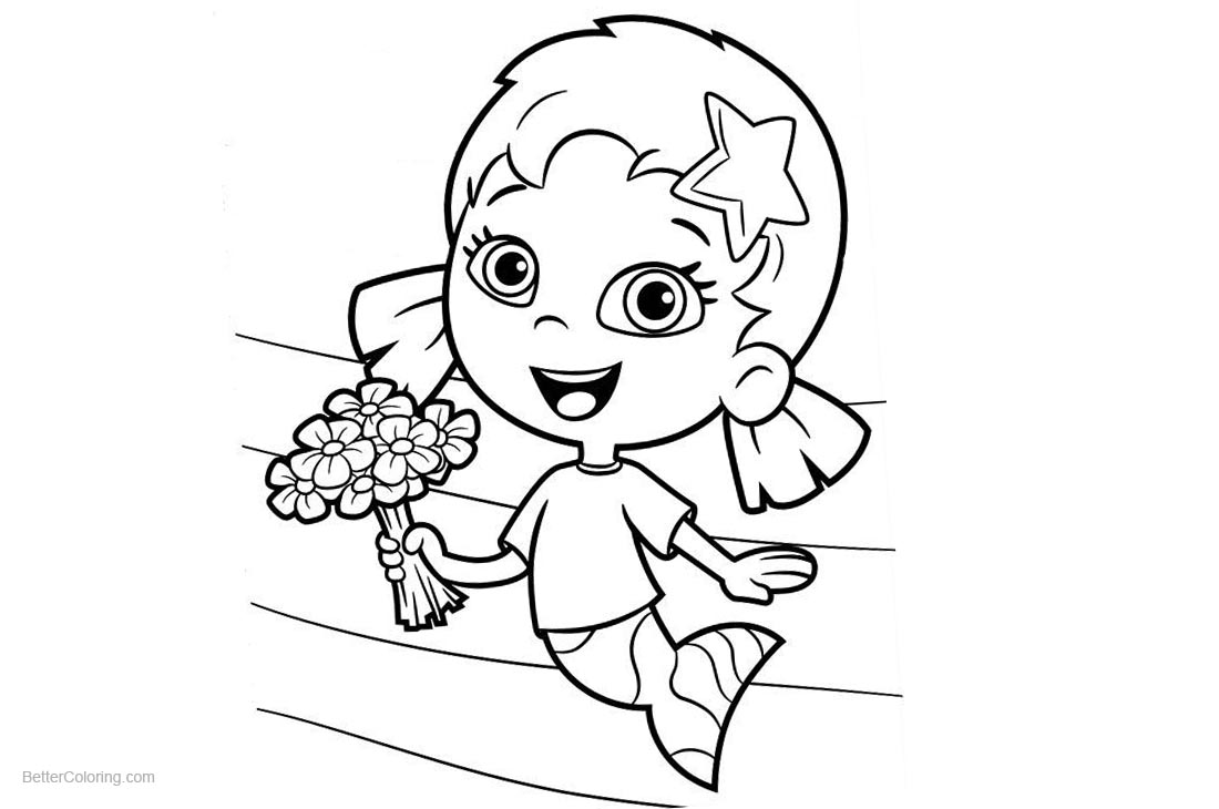 Bubble Guppies Coloring Pages Oona printable for free