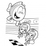 Bubble Guppies Coloring Pages Racing Clipart