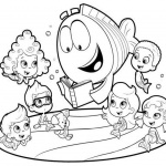 Bubble Guppies Coloring Pages Reading