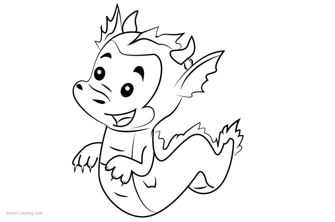 Bubble Guppies Coloring Pages The Dragon Puppy printable for free